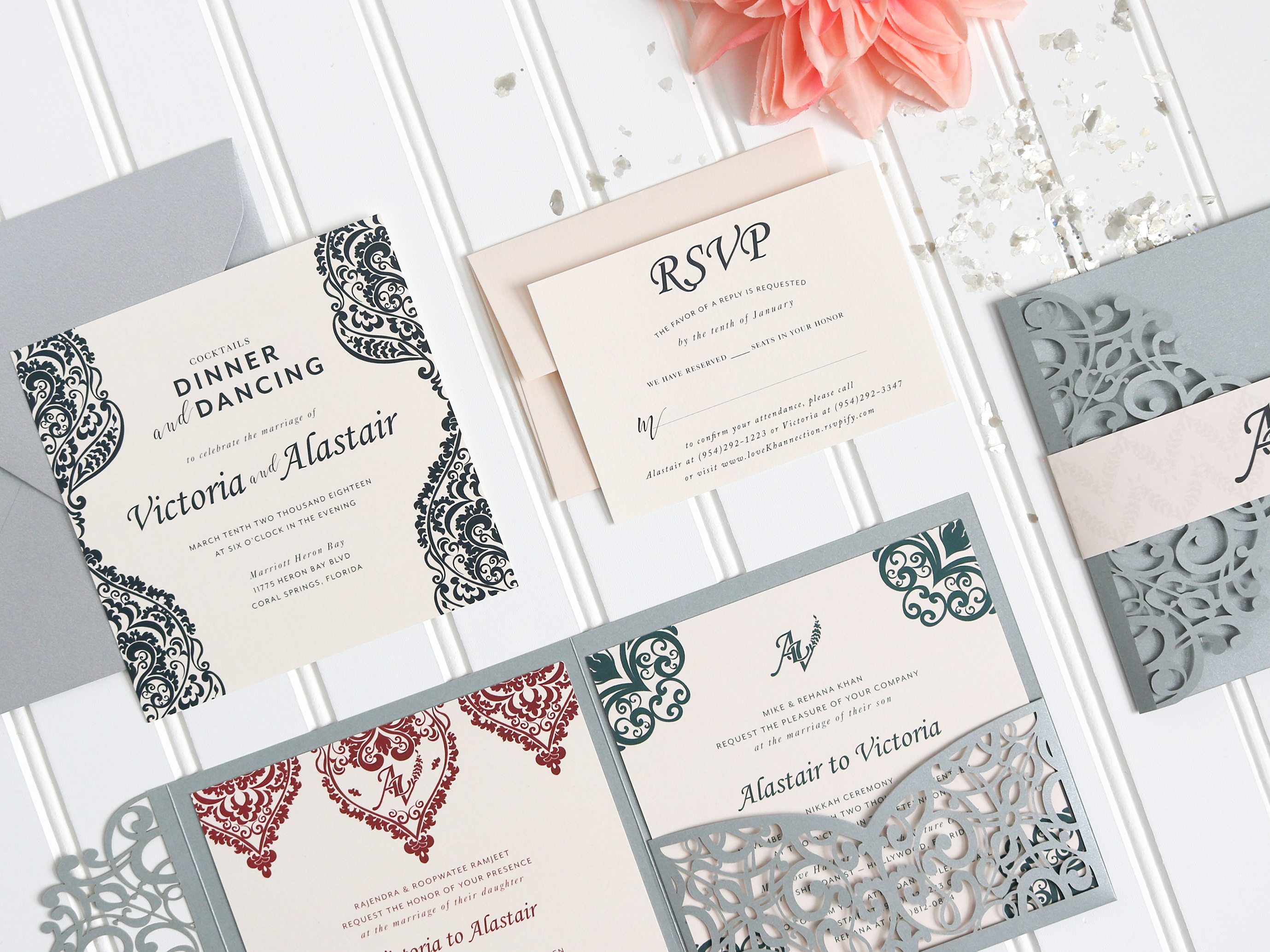 Bollywood Inspired Wedding Invitation Suite | The Moxie Workshop
