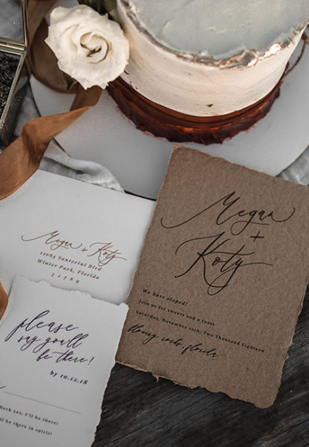 Elopement Wedding Suite | Invitations by www.themoxieworkshop.com | Cake by The Sugared Oven