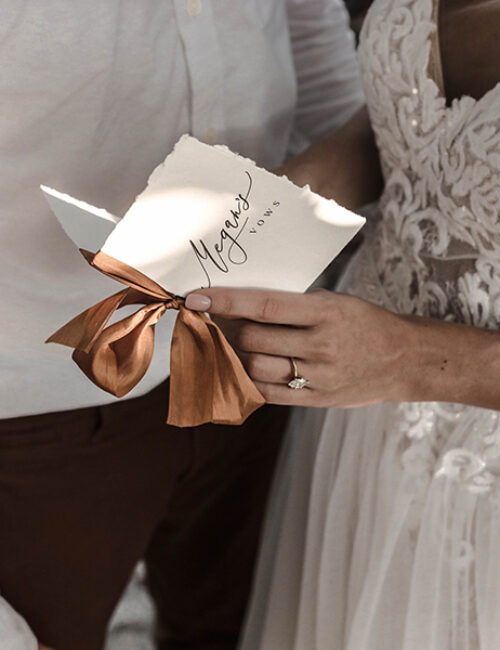 Elopement Hand-torn Vow Books | www.themoxieworkshop.com